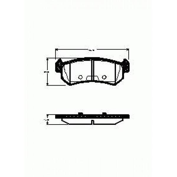 """Колодки тормозные """"QSP-M"""" LACETTI задние дисковые FDB1889"""