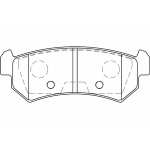 Колодки тормозные задние LACETTI (SAMSUNG)